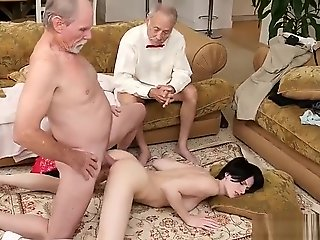 threesome Stocking.. anal