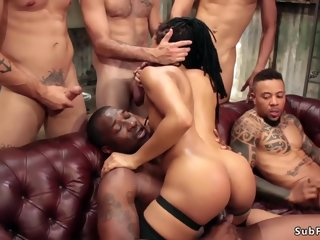 interracial Toned.. gangbang
